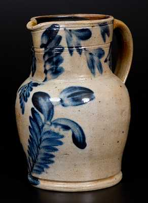 Remmey, Philadelphia, Stoneware Pitcher with Floral Decoration
