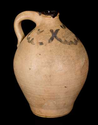1 Gal. C. CROLIUS / NEW-YORK Stoneware Jug with Cobalt Decoration