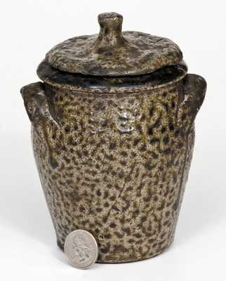Unusual North Carolina Lidded Stoneware Jar