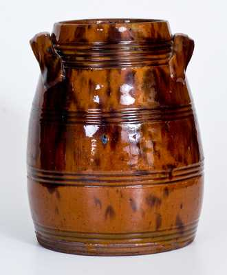 Glazed Redware Jar, attrib. Vickers Family, Chester County, PA, early 19th century