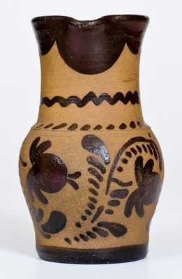 Tanware Pitcher, New Geneva, PA, circa 1880