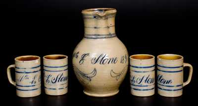 Remmey / Philadelphia Pitcher and Mugs Set Inscribed