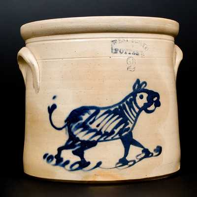 WEST TROY / N.Y. / POTTERY (Albany Area) Stoneware Zebra Crock