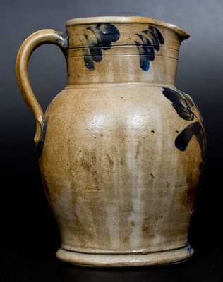 Fine One-and-a-Half-Gallon R.C.R. / PHILA. Stoneware Pitcher