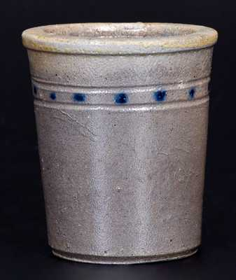 Extremely Rare Cobalt-Decorated Stoneware Tumbler, att. Charles F. Decker, Tennessee
