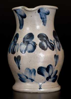 1/2 Gal. Stoneware Pitcher with Unusual Tooled Features, Baltimore, MD, c1870