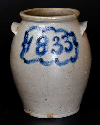 J. MILLER / WHEELING, VA 1833 Stoneware Jar (pre-West Virginia)
