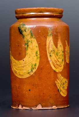 Redware Jar w/ Copper Slip Decoration, att. Nathaniel Seymour, West Hartford, CT