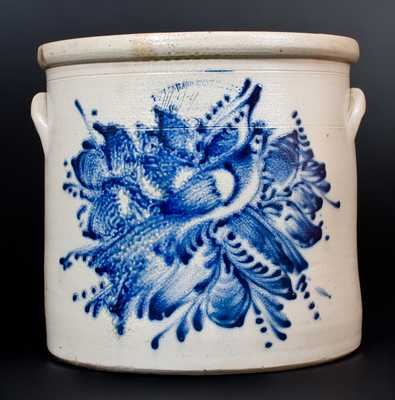 Fine 6 Gal. FORT EDWARD STONEWARE CO. NY Stoneware Bird Crock