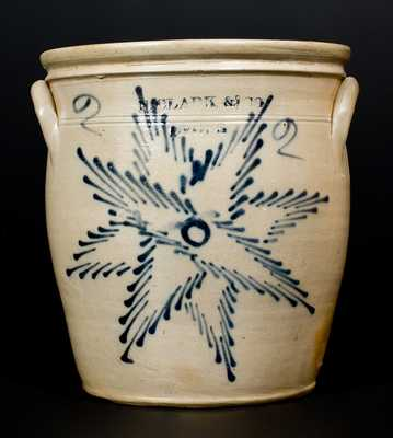 N. CLARK & CO. / LYONS Stoneware Jar with Starburst Decoration