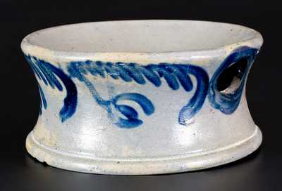 Stoneware Spittoon with Floral Decoration, Baltimore, circa 1840