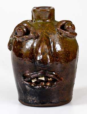Stoneware Face Jug, possibly Brown Pottery, Arden, North Carolina