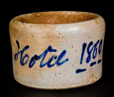 Unusual Stoneware Spittoon Inscribed