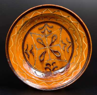 Slip-Decorated Redware Dish, possibly North Carolina Origin