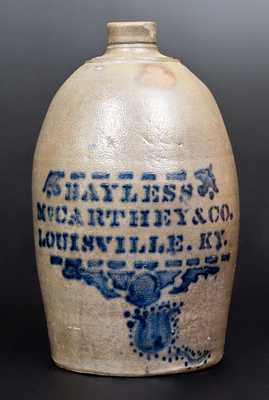 Unusual BAYLESS, MCCARTHEY & CO. / LOUISVILLE, KY Stoneware Jar