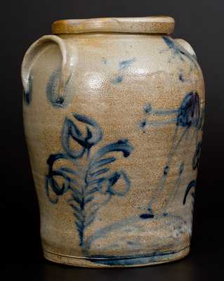 Rare Figural-Decorated Baltimore Stoneware Jar, c1825