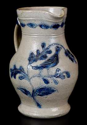 Important Remmey, Philadelphia 1874 Incised Birds Presentation Pitcher