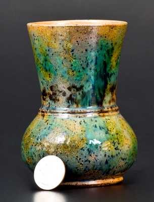 George Ohr Pottery Vase, Stamped