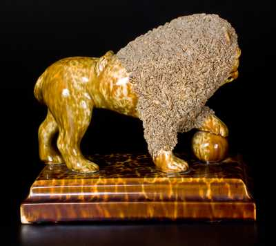Exceptional LYMAN FENTON & CO. / BENNINGTON, VT Standing Lion on Base