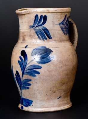 One-Gallon Stoneware Pitcher, attrib. the Remmey Pottery, Philadelphia, PA, circa 1865