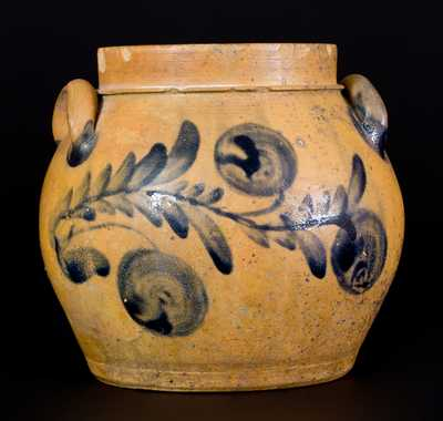 Rare Shenandoah Valley Stoneware Preserve Jar attrib. Coffman Family, Rockingham County, VA