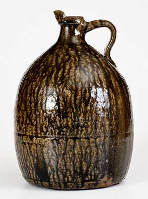 Extremely Rare Crawford County, GA Alkaline-Glazed Stoneware Syrup Jug