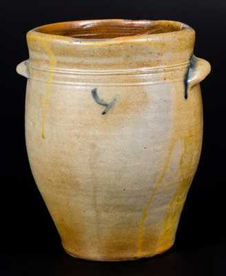 Fine PAUL CUSHMAN, Albany, NY Decorated Stoneware Jar