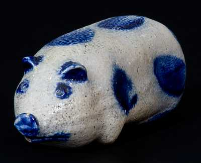 Fine Small-Sized Stoneware Pig Flask, Midwestern or possibly Remmey / Philadelphia