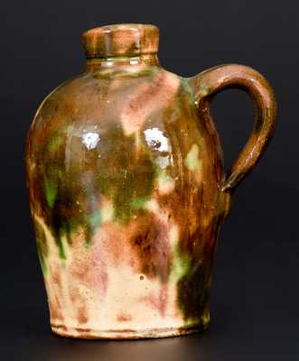 Shenandoah Valley Multi-Glazed Redware Jug