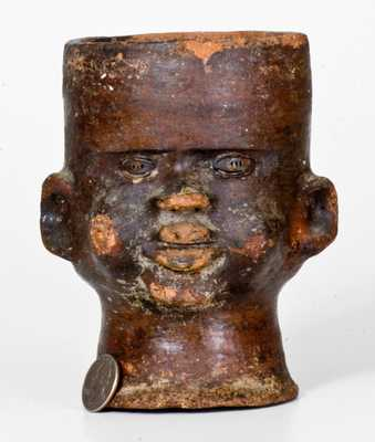 Unusual Stoneware Face Cup