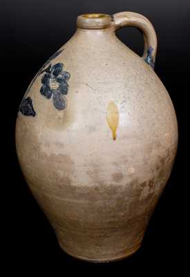 Stoneware Jug w/ Elaborate Incised Decoration, New York State, first quarter 19th century