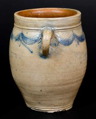 Rare COMMERAWS STONEWARE Vertical-Handled Stoneware Jar