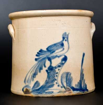 4 GaL. RIEDINGER & CAIRE / POUGHKEEPSIE, NY Stoneware Bird Crock