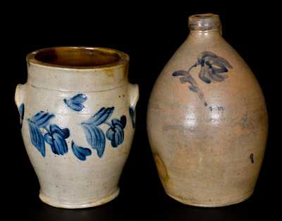 Lot of Two: Eastern US Stoneware Vessels