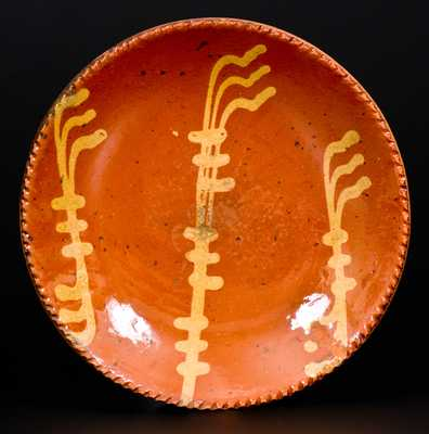 Slip-Decorated Redware Plate, Pennsylvania origin, probably Philadelphia