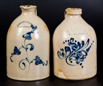 Lot of Two: New York Stoneware incl. PORTER & FRASER (West Troy) Syrup Jug