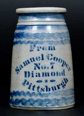 Elaborate Stoneware Canning Jar,
