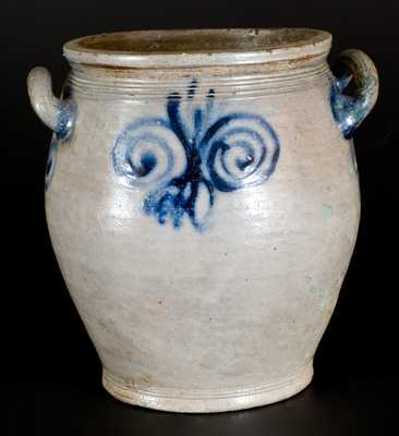 2 Gal. Stoneware Jar with Watchspring Decoration, New York or New Jersey, circa 1775