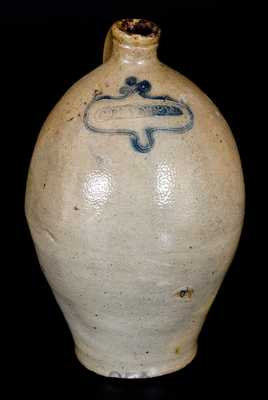 Rare C. BOYNTON (Albany, NY, circa 1820) Stoneware Jug with Incised Decoration