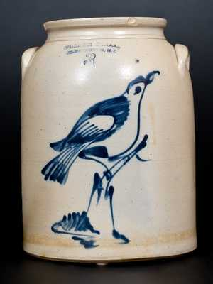 Fine FULPER BROS. / FLEMINGTON, NJ Stoneware Jar w/ Fine Bird-on-Stump Decoration