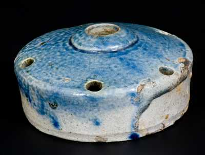 Stoneware Inkwell with Cobalt Top, possibly Clarkson Crolius, New York, 19th century
