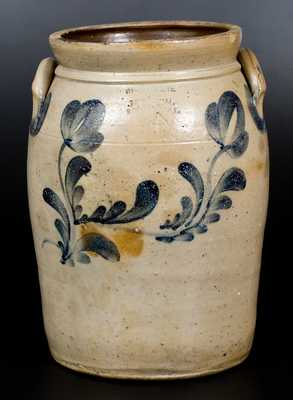 4 Gal. McKENZIE & JACKSON / BEAVER, PA Stoneware Jar with Floral Decoration