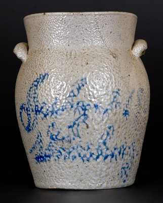 Very Rare S. BELL Stoneware Jar Inscribed