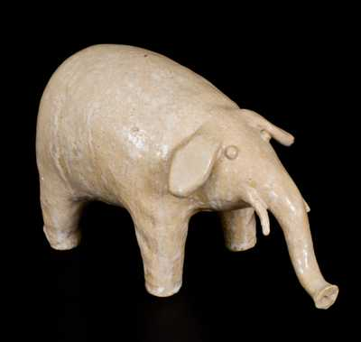 Extremely Rare Arie Meaders Stoneware Elephant, Cleveland, Georgia