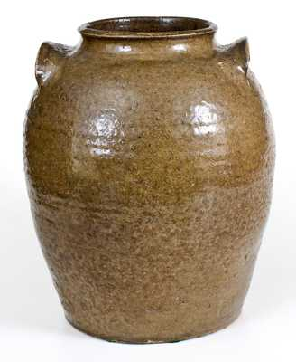 Four-Gallon Alkaline-Glazed Stoneware Jar, Edgefield District, SC origin, circa 1845
