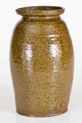 One-Gallon NC Alkaline-Glazed Stoneware Jar, possibly James Franklin Seagle, Vale, NC