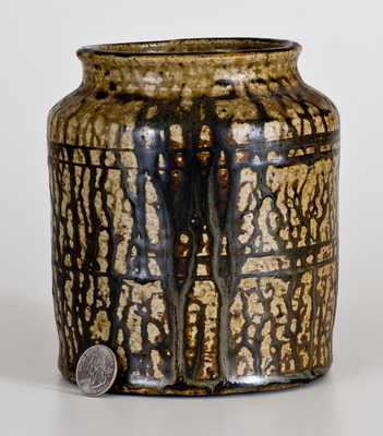 Small Alkaline-Glazed Stoneware Jar, possibly B.F. Landrum, Edgefield District, SC, c1850