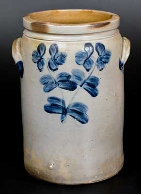 3 Gal. Baltimore Stoneware Jar with Floral Decoration