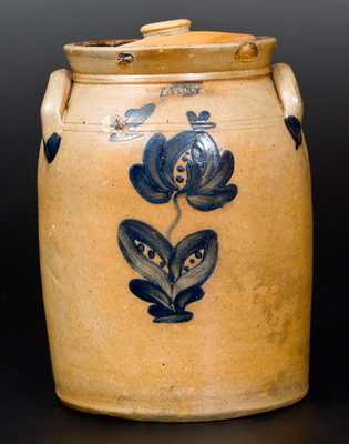 LYONS Stoneware Lidded Jar with Floral Decoration