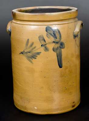 3 Gal. Decorated Stoneware Jar att. R. J. Grier, Chester County, PA